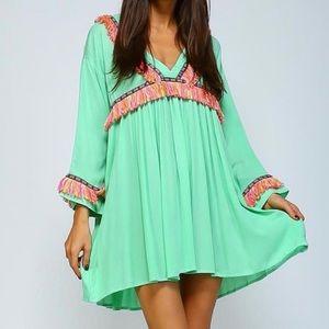 Velzera | Dress Fringe Oversized Cool Island Vibes